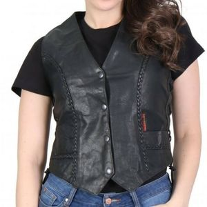NWT Hot Leathers Ladies Leather Motorcycle Vest